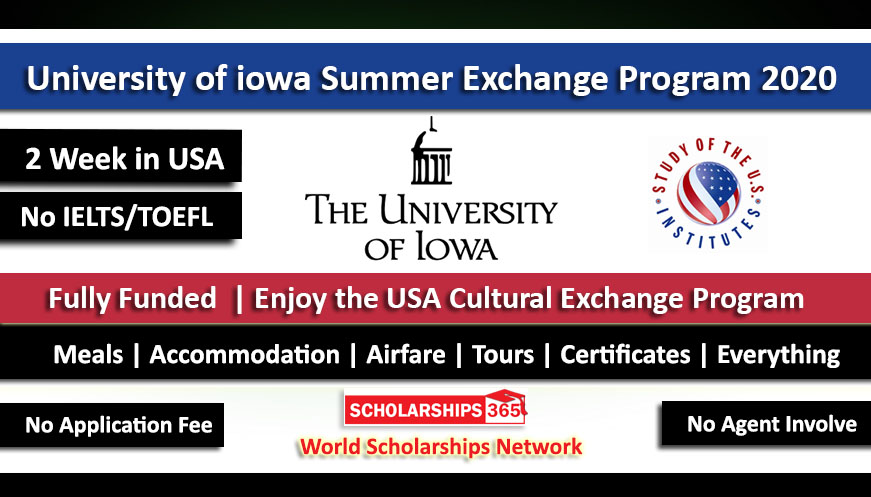 University of iowa Summer Exchange Program 2020 in USA - Fully Funded