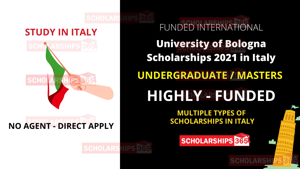 University of Bologna Scholarships for international students 2021 - Study in Italy