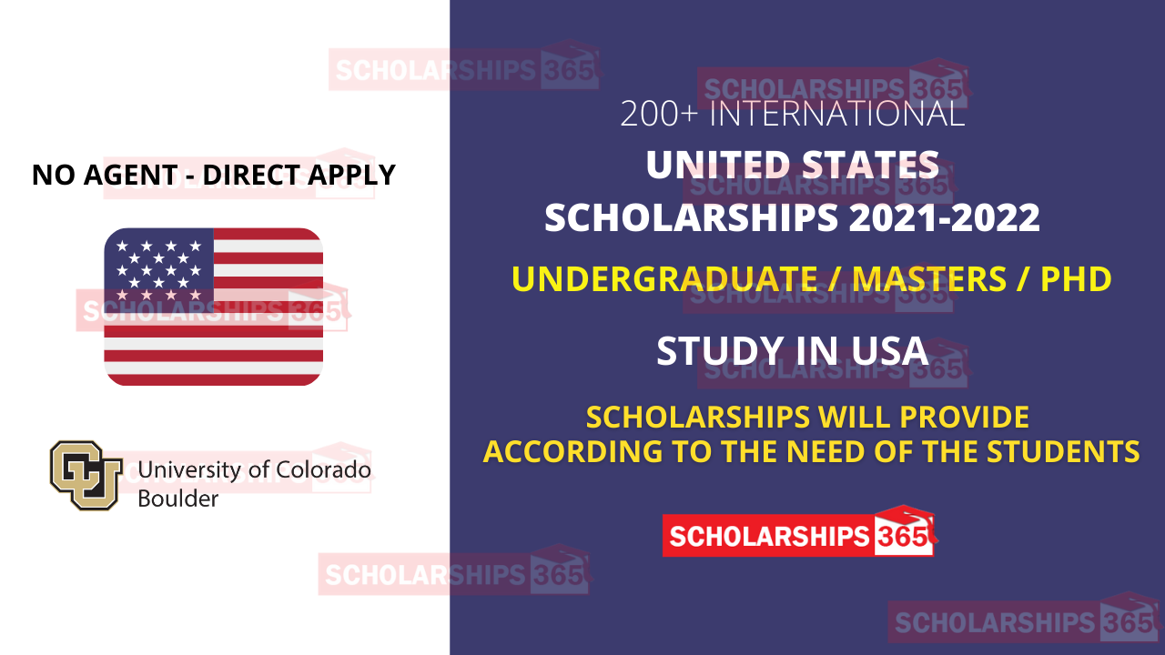 200+ University of Colorado Boulder Scholarships 2021 for International Students