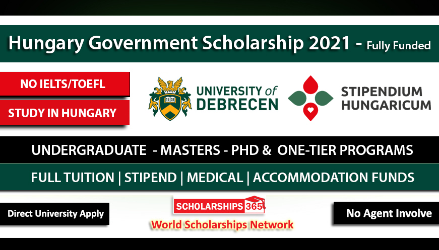 University of Debrecen Stipendium Hungaricum Scholarship 2021 -  Fully Funded