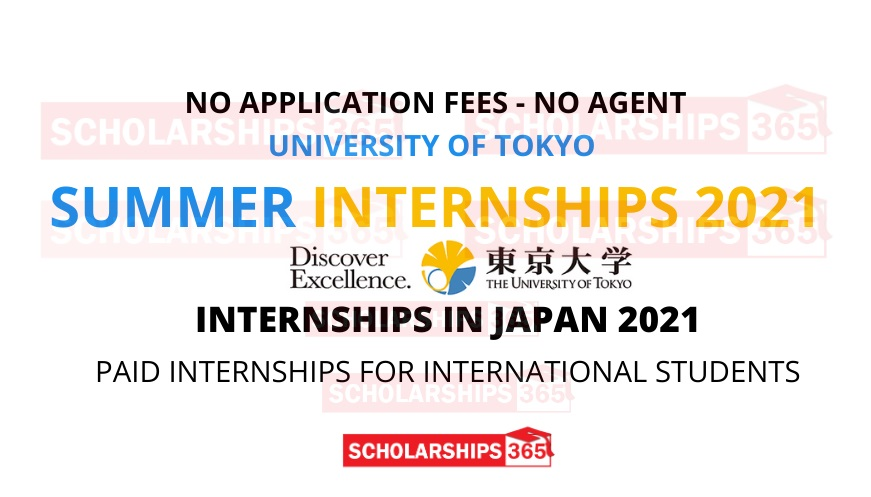 University of Tokyo Summer Internship 2021 in Japan - Funded