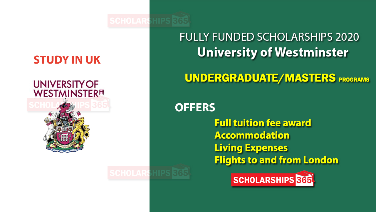 University of Westminster Scholarship 2020 - Fully Funded - for International Students
