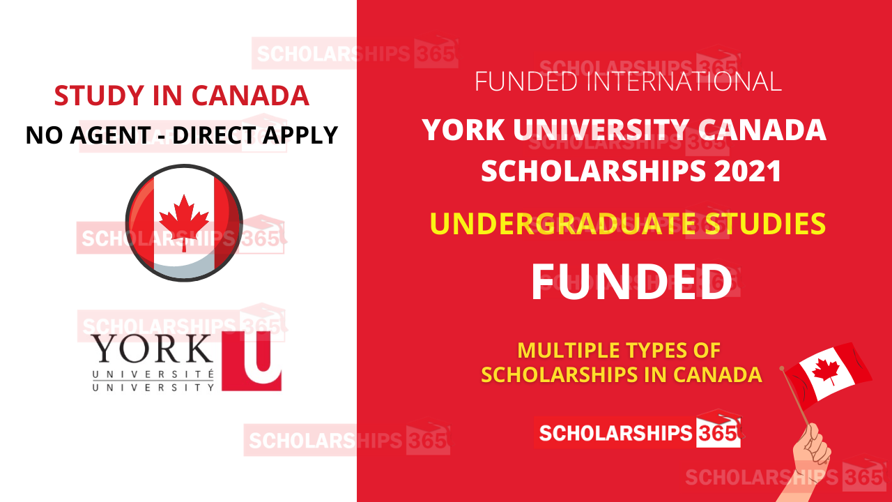 York University, Canada - International Scholarship 2021 for Study in Canada